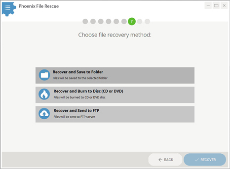 File recovery options