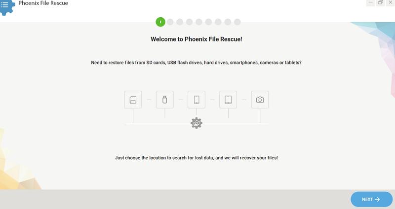 Phoenix File Rescue full screenshot